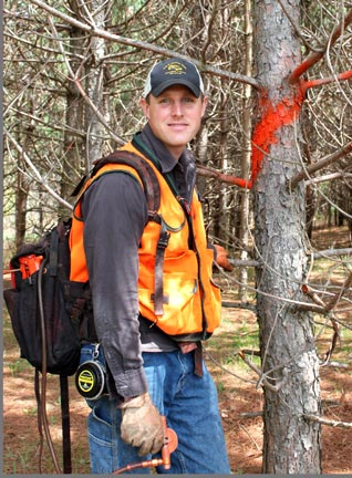 owner-of-sound-forest-management-peter-anderson-marking-pines